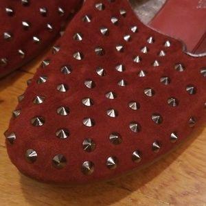 Yosi Samra Shoes - Yosi Samra YS Suede Studded Flats 8